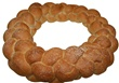 Light French Wreath Display Bread 24""